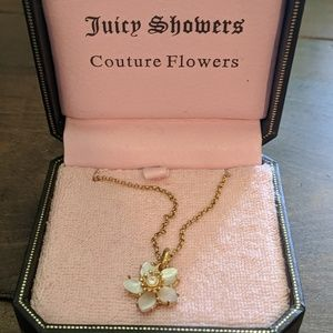 Juicy Couture Flower Wish Necklace